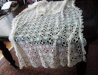 手編みモチーフつなぎのカーテン152  Hold(Sueyo10.1) - スペイン・バルセロナ・アンティーク gyu's shop