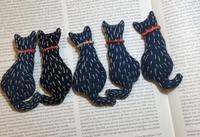 猫さんブローチ - 「にゃん」の針しごと
