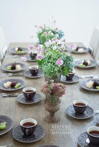 9月のテーブル&おやつ - VERDURE 「ヴェルデュール花教室」花暮らしブログ