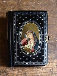 螺鈿と手描きの聖母マリアのMISAL  /E765 - Glicinia 古道具店