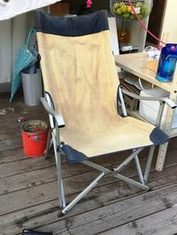Reinforcement for my camping chair  キャンプ用の椅子のカスタマイズ。。。。。 - フリークな日々