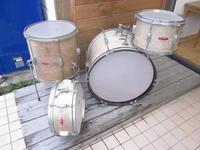 60年代 PEARL製ドラムセット バレンシア 現状 5000円 20インチ - なんだ屋 新着情報