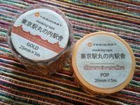【TRAINIART】東京駅マスキングテープ 2つ - ぶんぶんぶん ~Stationery Box~