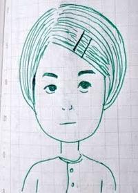 前髪 - たなかきょおこ-旅する絵描きの絵日記/Kyoko Tanaka Illustrated Diary