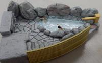 ミニレイアウト(15)~ 露天風呂、再生(泣) - 【趣味なんだってば】 鉄道模型とジオラマの製作日記