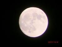 2017年10月4日15夜の月 - 家の周りの季節感