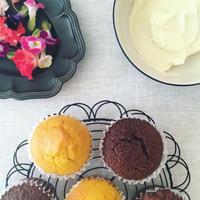 かぼちゃのカップケーキ - the de saison おやつとお茶時間