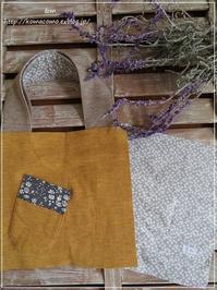 手作りましかくバッグはこんな風に。。なる予定♪ポイントはミトンポケット** - &m   handmade with linen,cotton...