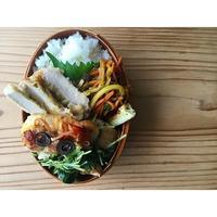 厚揚げと小松菜と豆苗のコラトゥーラ煮BENTO - Feeling Cuisine.com