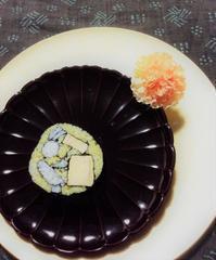 お月見のり巻き - coco diary 山口県 お花と絵とテーブルコーディネートレッスン