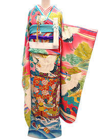 まさに芸術品☆加賀友禅の極上ビンテージ振袖 - それいゆのおしゃれ着物レンタル
