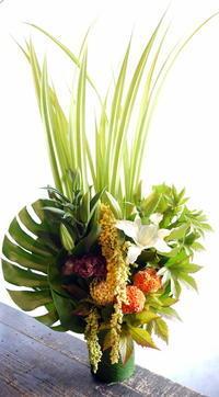 御命日に。「季節のお花で」。厚別中央5条にお届け。2017/09/30。 - 札幌 花屋 meLL flowers