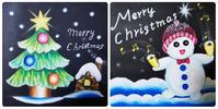 手芸教室「チョークアートのクリスマスボード」 - 手づくり屋 mushroom