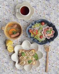 バナナトーストの朝ごはん - 陶器通販・益子焼 雑貨手作り陶器のサイトショップ 木のねのブログ