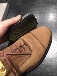 スエード履く前、履いた後。 - R&Dシューケアショップ 玉川タカシマヤ本館4階紳士靴売場内