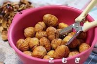 栗の甘露煮に挑戦!! - パン・お菓子教室 「こ む ぎ」