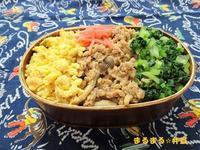 3色ごはん弁当 - まるまる☆弁当