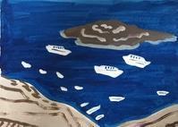船 - たなかきょおこ-旅する絵描きの絵日記/Kyoko Tanaka Illustrated Diary