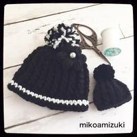 引き上げ編みのニット帽とフリルワンピ色違い@ドール小物 - 編み好き@amiami通信