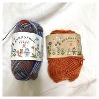 靴下:コロポックル18㎝(1) - よなよな編み物