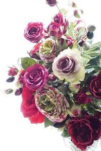 プリザーブドフラワーの為に生花レッスン♪ - お花に囲まれて