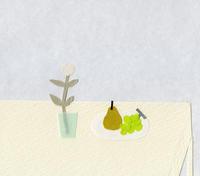ラフランスとぶどう - illustration note