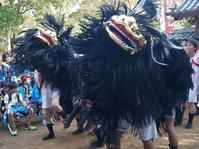 姫路・別所の日吉神社秋祭り(宵宮)(4)児童・若者たちによる毛獅子舞の奉納 - たんぶーらんの戯言