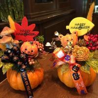 ハロウィンかぼちゃ2017 - 花だより 海浜幕張駅 花屋 テーブルコサージュ・ラボ~フラワーショップ~