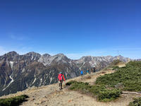 北アルプスの絶景!を眺める蝶ヶ岳 - 山登りはじめました!
