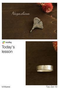 アートクレイシルバーで秋の装い - Silver clay Ru*  手軽にできるシルバーアクセサリー