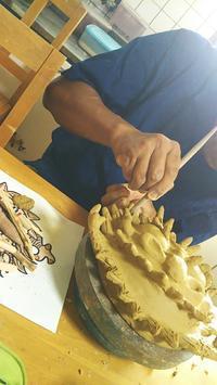10月の陶芸教室 - 石州瓦と家づくり