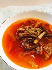 ユッケジャンクラス、終了しました「オジンオスンデ」も大好評 - 今日も食べようキムチっ子クラブ (我が家の韓国料理教室)