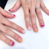 秋色ネイル、まっすぐフレンチ - 表参道・銀座ネイルサロンtricia BLOG