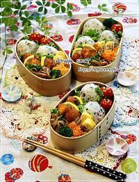 五色の花おむすび弁当とおにぎりアクション2017とミニトマト成長日記⑥♪ - ☆Happy time☆