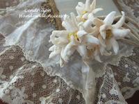 冬のアクセサリーに使いたいお花エーデルワイス♪ - 愛知 豊橋 布花アクセサリーCendrillon
