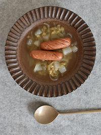 【新着】小澤基晴さん・ブロンズ釉しのぎスープ皿 - Today'sとうもん