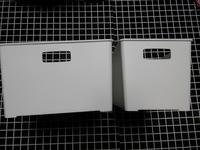 【白】セリアのまっ白な収納ボックスで冷蔵庫を白化 - ほぼ100均で片付け収納に挑戦