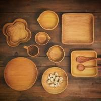 ラオス松の丸皿と角皿 - 雑貨店PiPPi