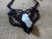 【マクラメ&ヘンプ】#167クラスター水晶のマクラメネックレス - Shop Gramali Rabiya (SGR)