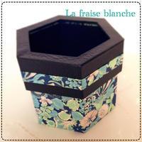 ミニダストボックス - La fraise blanche ~カルトナージュ&ハンドメイド~