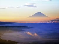 高ボッチ富士山・・・大雲海に朝陽が入り始めて・・・シリーズ最終便(5) - 『私のデジタル写真眼』
