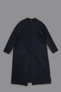 FIRMUM Urugay Wool Long Cardigan (Navy) - un.regard.moderne