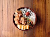 10/16(月)鶏のから揚げ弁当 - おひとりさまの食卓plus