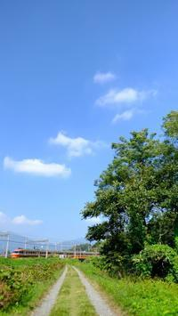 2017晩秋、四十八瀬渓谷にて小田急ロマンスカー - My B Side Life season2