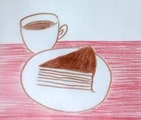パリパリチョコミルクレープ - たなかきょおこ-旅する絵描きの絵日記/Kyoko Tanaka Illustrated Diary