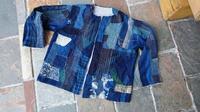 古着メンズシャツ カスタマイズ  3 - 古布や麻の葉