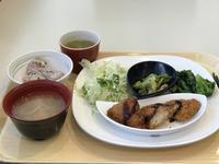 今日も社食の健康定食〜ささみフライと野菜たち〜 - よく飲むオバチャン☆本日のメニュー