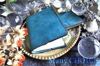 イタリアンバケッタレザー・プエブロ・L型財布とブックカバー・時を刻む革小物 - 時を刻む革小物 Many CHOICE~ 使い手と共に生きるタンニン鞣しの革