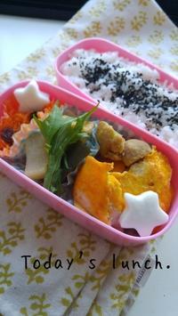 今日の娘のお弁当 - 料理研究家ブログ行長万里  日本全国 美味しい話