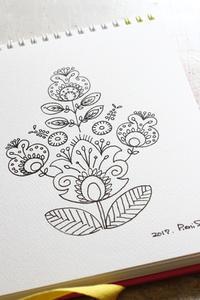 販売用作品のデザイン画 - オフフープ™立体刺繍、フェルタート™作家PieniSieniのブログ